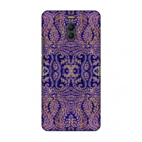 Zardozi Geometric Motifs - Midnight Blue Slim Hard Shell Case For Meizu Note 6