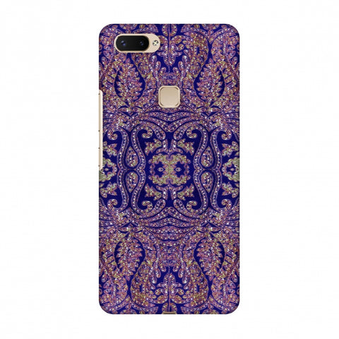 Zardozi Geometric Motifs - Midnight Blue Slim Hard Shell Case For Vivo X20 Plus