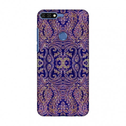 Zardozi Geometric Motifs - Midnight Blue Slim Hard Shell Case For Huawei Honor 7C