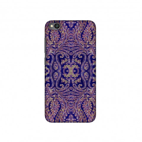 Zardozi Geometric Motifs - Midnight Blue Slim Hard Shell Case For Redmi Go