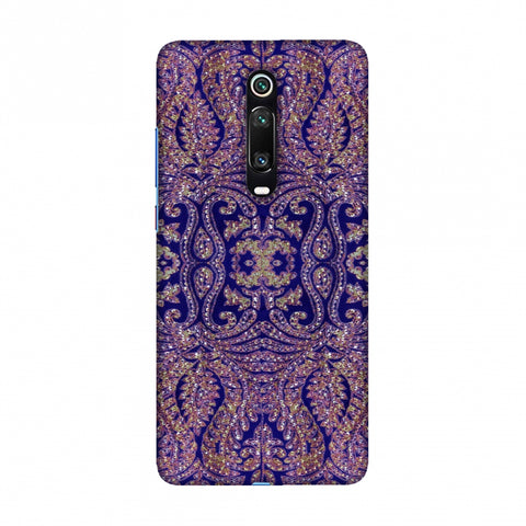 Zardozi Geometric Motifs - Midnight Blue Slim Hard Shell Case For Redmi K20/K20 Pro