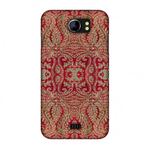 Zardozi Geometric Motifs - Red Slim Hard Shell Case For Micromax Canvas 2 A110
