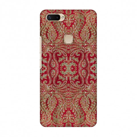 Zardozi Geometric Motifs - Red Slim Hard Shell Case For Vivo X20 Plus
