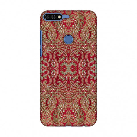 Zardozi Geometric Motifs - Red Slim Hard Shell Case For Huawei Honor 7C
