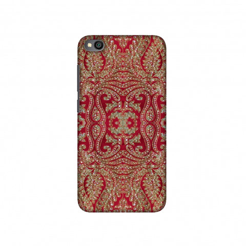 Zardozi Geometric Motifs - Red Slim Hard Shell Case For Redmi Go