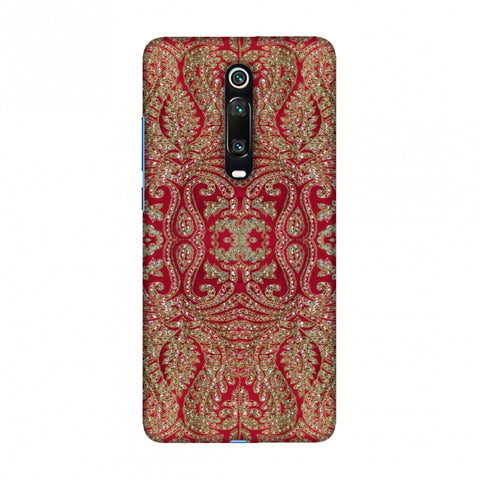 Zardozi Geometric Motifs - Red Slim Hard Shell Case For Redmi K20/K20 Pro