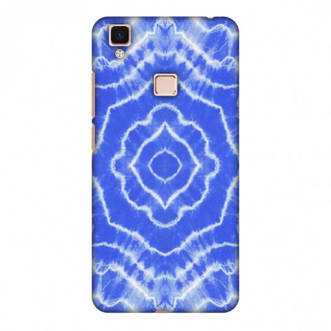 Shibori Dyeing Waves - Light Blue Slim Hard Shell Case For Vivo V3 Max