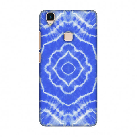 Shibori Dyeing Waves - Light Blue Slim Hard Shell Case For Vivo V3