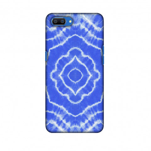 Shibori Dyeing Waves - Light Blue Slim Hard Shell Case For Oppo Realme C1