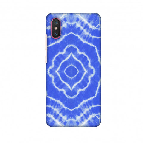 Shibori Dyeing Waves - Light Blue Slim Hard Shell Case For Xiaomi Mi 8 Pro