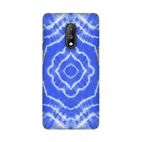 Shibori Dyeing Waves - Light Blue Slim Hard Shell Case For OnePlus 7