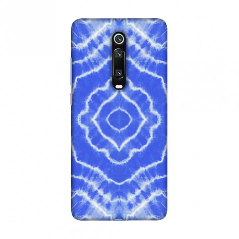 Shibori Dyeing Waves - Light Blue Slim Hard Shell Case For Redmi K20/K20 Pro