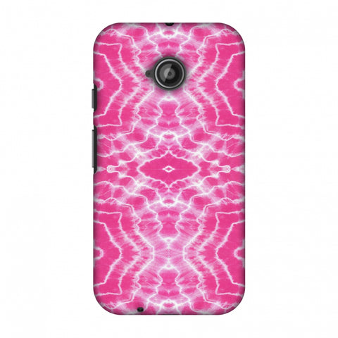 Shibori Dyeing Waves - Pink Slim Hard Shell Case For Motorola Moto E 2nd Gen