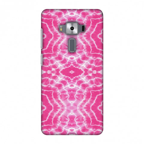 Shibori Dyeing Waves - Pink Slim Hard Shell Case For Asus Zenfone 3 Deluxe ZS570KL