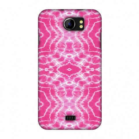 Shibori Dyeing Waves - Pink Slim Hard Shell Case For Micromax Canvas 2 A110