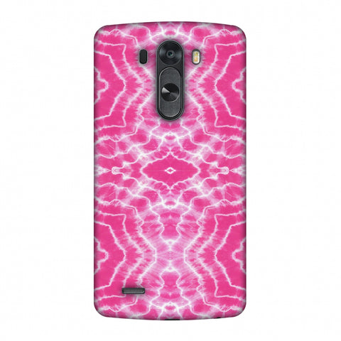 Shibori Dyeing Waves - Pink Slim Hard Shell Case For LG G4