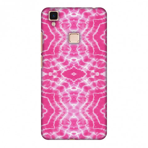 Shibori Dyeing Waves - Pink Slim Hard Shell Case For Vivo V3 Max