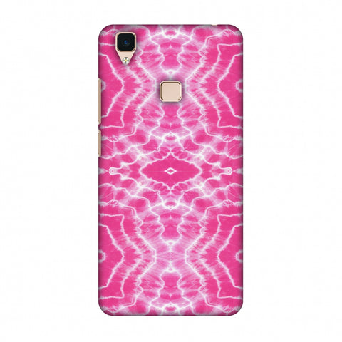 Shibori Dyeing Waves - Pink Slim Hard Shell Case For Vivo V3
