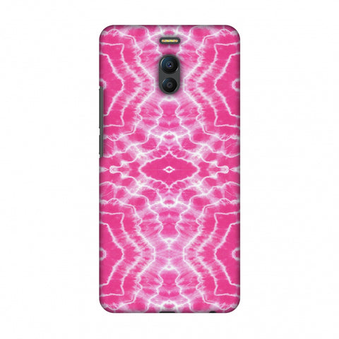 Shibori Dyeing Waves - Pink Slim Hard Shell Case For Meizu Note 6