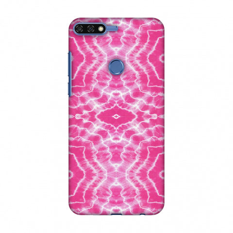 Shibori Dyeing Waves - Pink Slim Hard Shell Case For Huawei Honor 7C