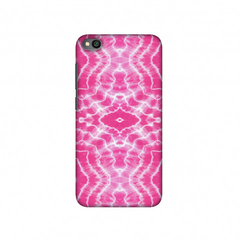 Shibori Dyeing Waves - Pink Slim Hard Shell Case For Redmi Go
