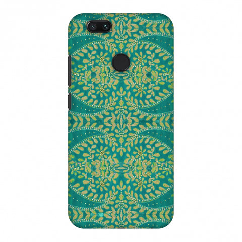 Thread And Sequins Work - Sea Green Slim Hard Shell Case For Xiaomi MI A1-5X