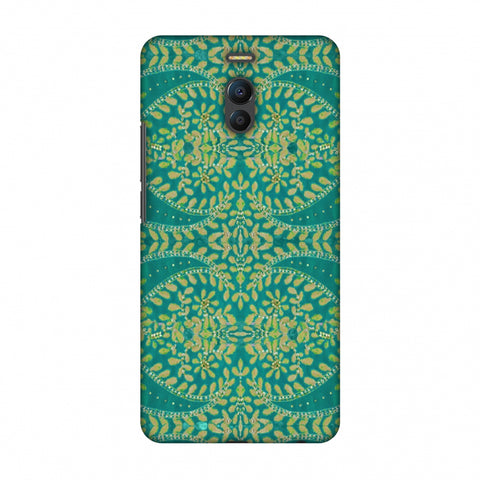 Thread And Sequins Work - Sea Green Slim Hard Shell Case For Meizu Note 6