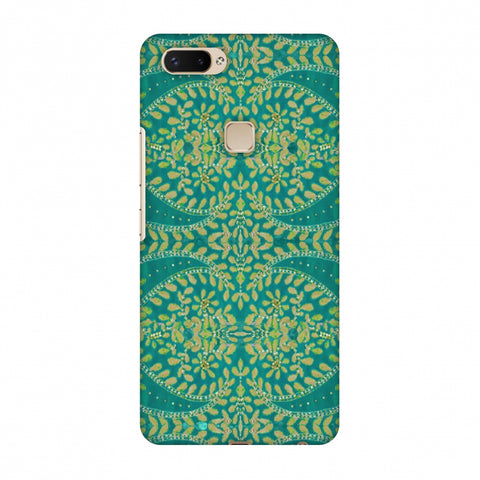 Thread And Sequins Work - Sea Green Slim Hard Shell Case For Vivo X20 Plus