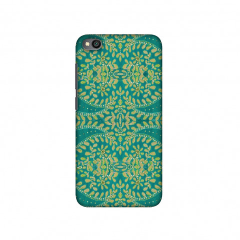 Thread And Sequins Work - Sea Green Slim Hard Shell Case For Redmi Go