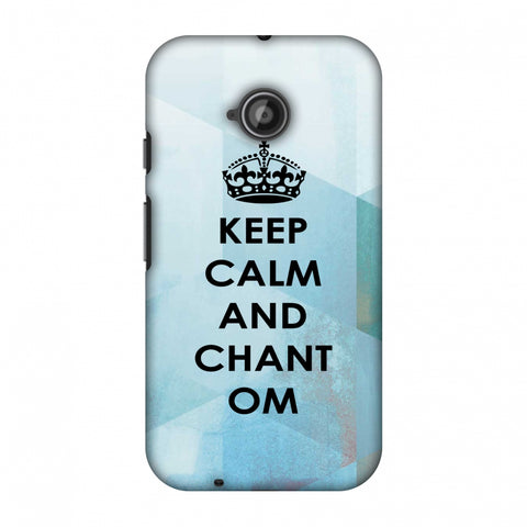 Keep Calm - Chant Om Slim Hard Shell Case For Motorola Moto E 2nd Gen
