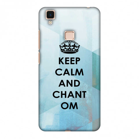 Keep Calm - Chant Om Slim Hard Shell Case For Vivo V3 Max