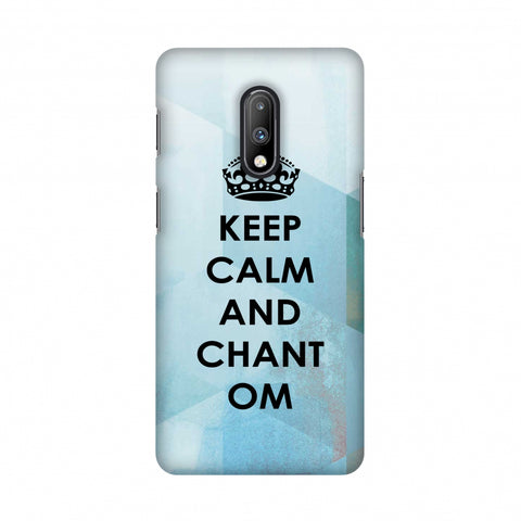 Keep Calm - Chant Om Slim Hard Shell Case For OnePlus 7
