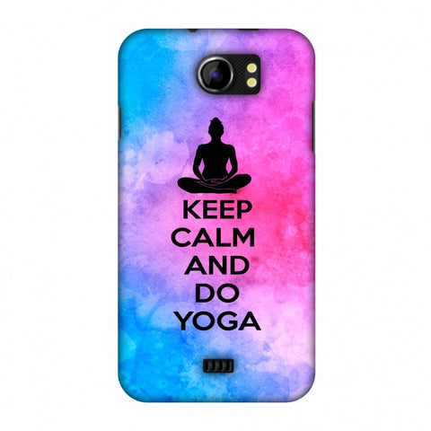 Keep Calm - Do Yoga Slim Hard Shell Case For Micromax Canvas 2 A110