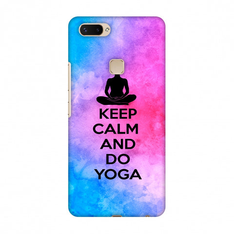 Keep Calm - Do Yoga Slim Hard Shell Case For Vivo X20 Plus