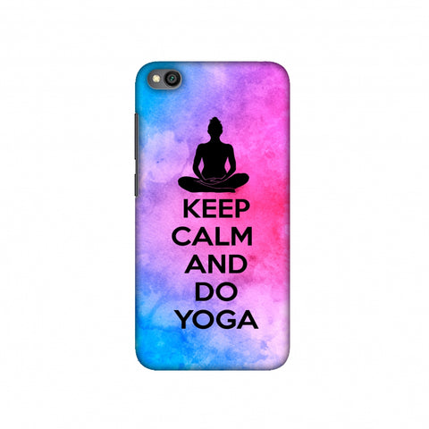 Keep Calm - Do Yoga Slim Hard Shell Case For Redmi Go