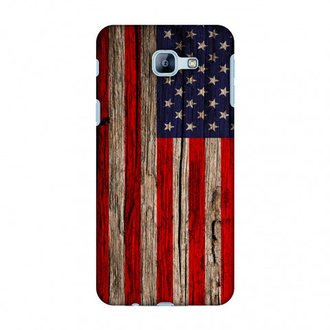 USA Flag - Wooden Texture Slim Hard Shell Case For Samsung Galaxy A8 2016