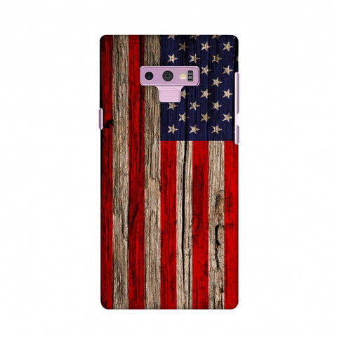 USA Flag - Wooden Texture Slim Hard Shell Case For Samsung Galaxy Note 9