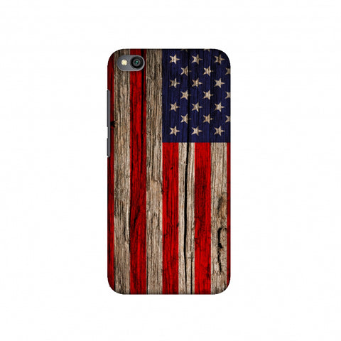 USA Flag - Wooden Texture Slim Hard Shell Case For Redmi Go
