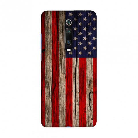 USA Flag - Wooden Texture Slim Hard Shell Case For Redmi K20/K20 Pro