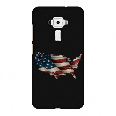 USA Flag Cutout Slim Hard Shell Case For Asus Zenfone 3 ZE520KL
