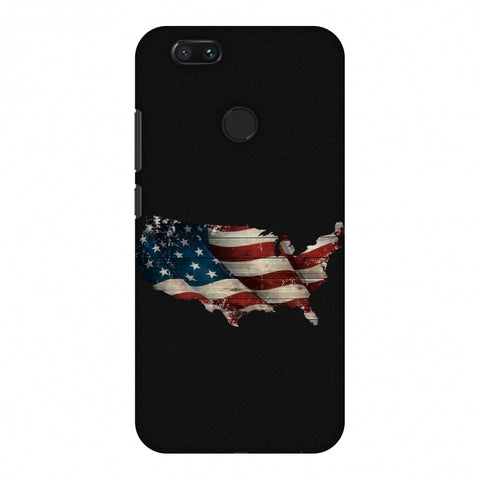 USA Flag Cutout Slim Hard Shell Case For Xiaomi MI A1-5X