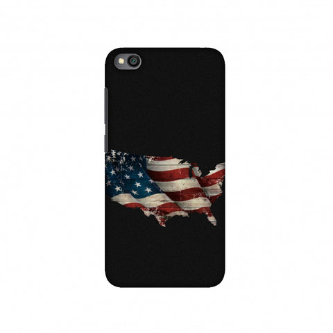 USA Flag Cutout Slim Hard Shell Case For Redmi Go