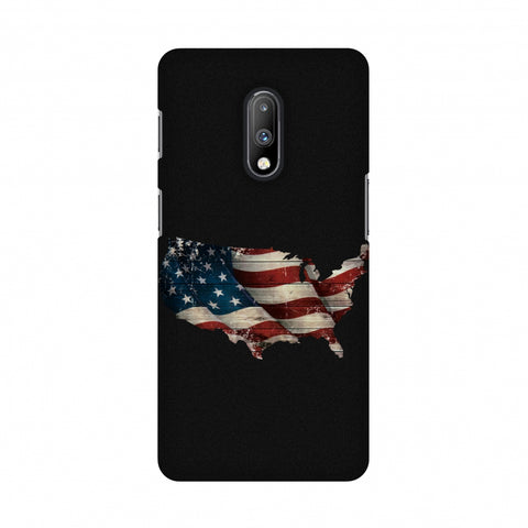 USA Flag Cutout Slim Hard Shell Case For OnePlus 7