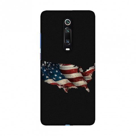 USA Flag Cutout Slim Hard Shell Case For Redmi K20/K20 Pro