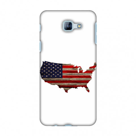 USA Flag Cutout - Wooden Texture Slim Hard Shell Case For Samsung Galaxy A8 2016