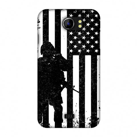 USA Flag - Soldier - Monochrome Slim Hard Shell Case For Micromax Canvas 2 A110