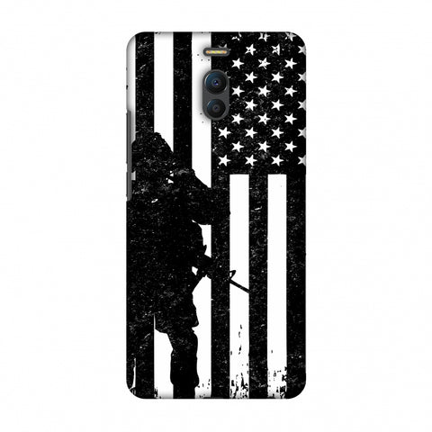 USA Flag - Soldier - Monochrome Slim Hard Shell Case For Meizu Note 6