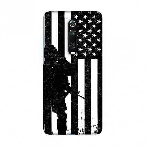 USA Flag - Soldier - Monochrome Slim Hard Shell Case For Redmi K20/K20 Pro