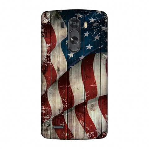 USA Flag - Vintage Wooden Texture Slim Hard Shell Case For LG G4