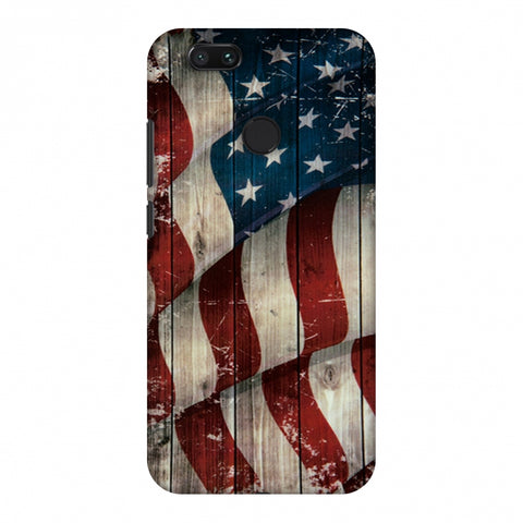 USA Flag - Vintage Wooden Texture Slim Hard Shell Case For Xiaomi MI A1-5X